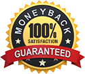 100% Satisfaction - Money Back Guarantee